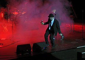 The All New Blues and Soul Revue, Blues Brothers Tribute Band, performing at Peterborough key theatre in September 2012.